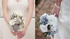 diy wedding bouquet paper bridal flower tutorial