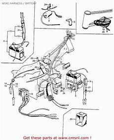 honda s90 wiring honda s90 1964 usa wire harness battery schematic partsfiche