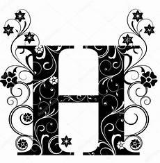 Buchstaben Verschnörkelt - letter capital h stock vector 169 pdesign 6057115