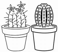 Cactus Plant Coloring Pages Beautiful Cactus On The Pot Coloring Page
