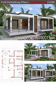 sketchup house plans sketchup home design plan 10x13m bungalow house plans