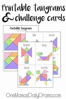 Tangram Kinder Malvorlagen Quest Printable Tangrams And Challenge Cards Activities