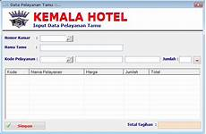software aplikasi pengolahaan hotel kemala