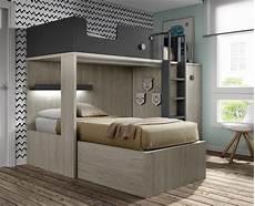 lit superpos 233 avec bureau amovible meubles ros meubles ros