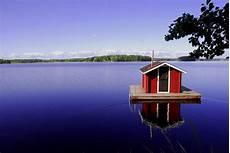 Haus Im Wasser Foto Bild Europe Scandinavia Sweden