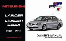 download car manuals 2010 mitsubishi lancer on board diagnostic system mitsubishi lancer car owners manual 2003 2010