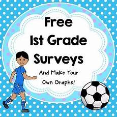 free first grade surveys and make my own graph sports theme maths graphing first grade