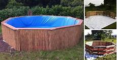 make your own diy swimming pool with 9 wooden