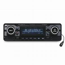 autoradio vintage look retro black cd usb sd bluetooth