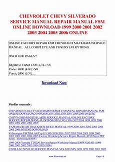 small engine repair manuals free download 1995 chevrolet tahoe seat position control chevrolet chevy silverado service manual repair manual fsm 1999 2000 2001 2002 2003 2004 2005 by
