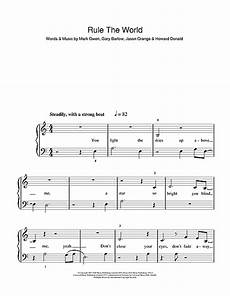rule the world from stardust sheet music by take that 5 finger piano 110250