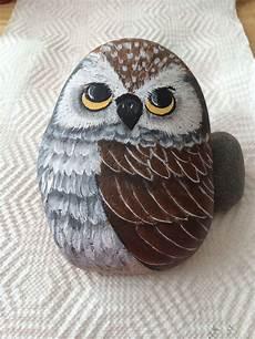 My Owl Rock Steinmalerei Steine Bemalen Und Steinkunst