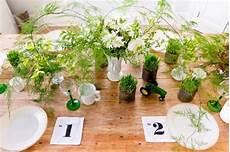 green table centerpiece ideas for bright decorating