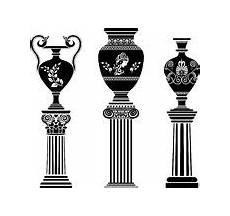 vaso romano antico colonna ed arco greci illustrazione vettoriale