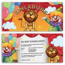 Malvorlagen Kinder Geburtstag Einladungskarten Im Zirkus Design Bestellen