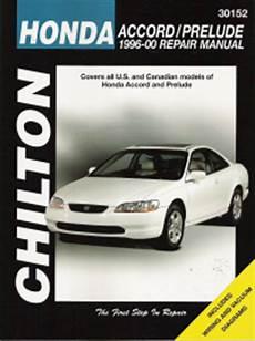 automotive service manuals 1999 honda prelude auto manual 1996 2000 honda accord and prelude chilton s total car care manual