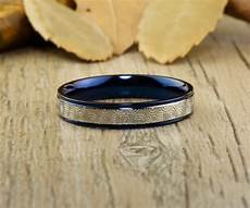unique blue wedding bands couple rings titanium rings anniv