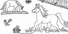 Ausmalbilder Ostern Pferde Pferde Auf Koppel Nadines Ausmalbilder