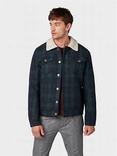 tom tailor denim jeansjacke 187 robuste jacke mit teddyfell