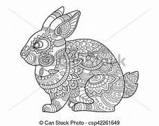 libro de colorear conejos para vectores de adultos libro