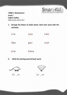grade 1 english worksheet spelling smartkids