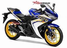 Modifikasi R25 2018 by Modifikasi Striping R25 Blue Terbaru 2016