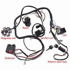 go kart gy6 wiring harness gy6 150cc atv go kart wire harness assembly cdi switch electric part ebay