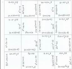 this puzzle could be used as a fluency activity for multiplying or factoring polynomials math