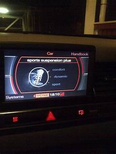 suspension settings on mmi missing audiworld forums