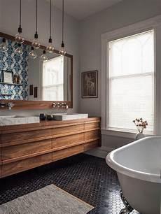Floating Vanity Bathroom Contemporary With Walnut