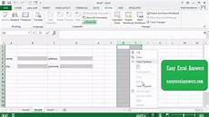 hide and lock a column in excel youtube