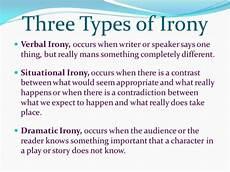 english 8 types of irony