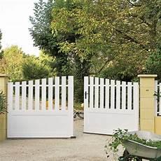 portail et cloture alu leroy merlin portail battant pvc auray blanc l 350 cm x h 120 leroy