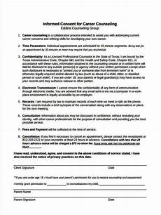 informed consent form template for counseling sletemplatess sletemplatess