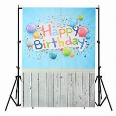 3x5ft Vinyl Birthday Weeding Photography by 3x5ft Vinyl Happy Birthday Blue Wood Floor Studio Props