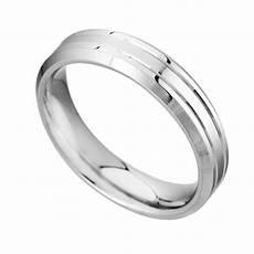 men s 6mm patterned palladium wedding ring