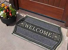 Thin Outdoor Mats by Silver Non Shedding Welcome Large Strong Entrance Front