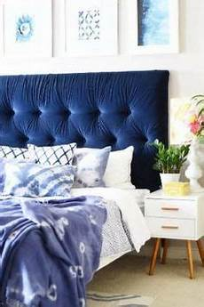 Bedroom Ideas Blue Headboard by Naples Upholstered Bed Navy Blue Wrap Design