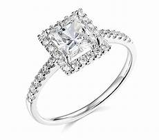 1 90 ct princess cut halo engagement wedding promise ring