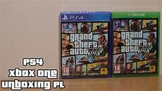 grand theft auto v ps4 xbox one unboxing pl