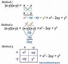 ways of multiplying binomials math problems