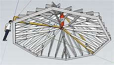 truss enabled octagonal roof with cathedral ceiling framing contractor talk