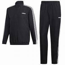 adidas performance 3 stripes trainingsanzug herren black