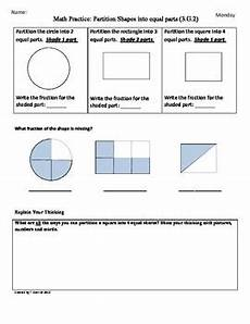 3 g 2 partition shapes 3rd grade common by tonya gent