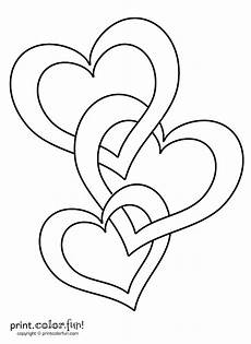 connected hearts coloring page print color