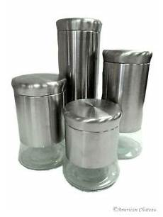 large kitchen canisters new set 4 canister large glass stainless steel kitchen