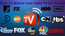 tv free how to live cable tv for free