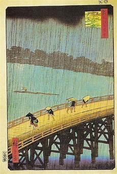 peinture japonaise synonyme le pont ohashi impression