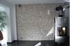 Schwedenofen Stein Wand Lajas Gris Wandverkleidung Stein