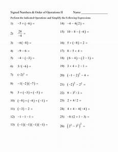 5th grade math order of operations worksheets order of operations worksheet 2 printout